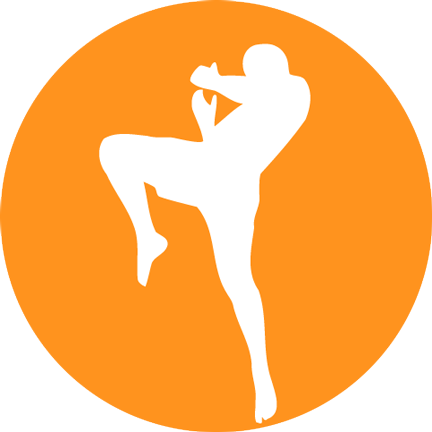 Example gym logo for dark background.